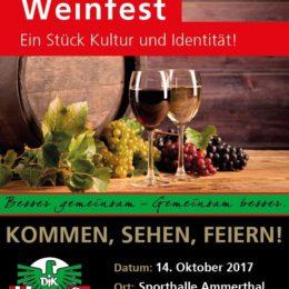 Weinfest mit der DJK Ammerthal am 14.10.2017